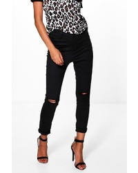 Boohoo Katie 5 Pocket Knee Rip Jeggings