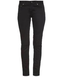 Saint Laurent Low Rise Distressed Skinny Jeans
