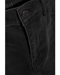 Madewell Distressed High Rise Skinny Jeans Black