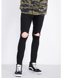 Magic Stick Ripped Knee Slim Fit Skinny Jeans