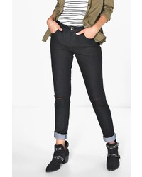 Boohoo Mollie Longer Leg 34 Ripped Knee Skinny Jeans