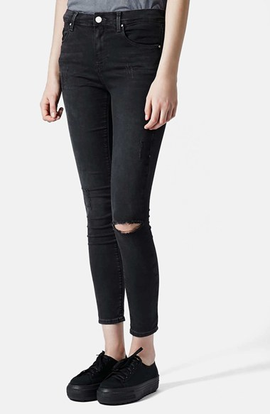 562f23f9212 Topshop Moto Leigh Ripped Skinny Jeans, $70 | Nordstrom | Lookastic.com