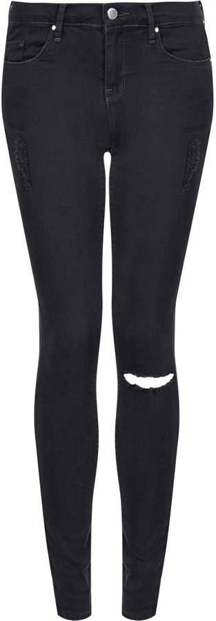 c14d15b5cb3 Topshop Moto Ripped Low Rise Leigh Jeans, $65 | Topshop | Lookastic.com