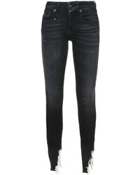 R13 ripped hem skinny jeans medium 6471657