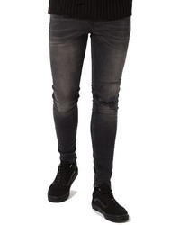 Ripped spray on skinny fit jeans medium 1150060