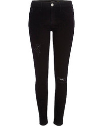 River Island Black Ripped Molly Jeggings
