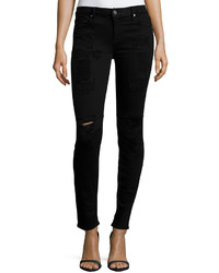Rta Denim Icon Skinny Ankle Jeans Black Lash