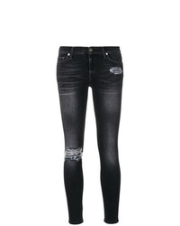 7 For All Mankind Sequined Detail Skinny Jeans