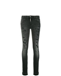 Philipp Plein Slim Distressed Jeans