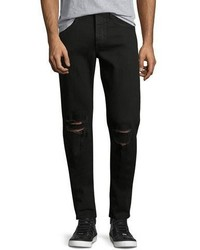 rag & bone Standard Issue Fit 1 Slim Skinny Jeans With Ripped Knees