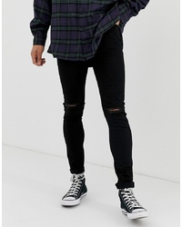 ASOS DESIGN Super Skinny Jeans With Knee Rips