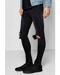 Boohoo Super Skinny Ripped Knee Jean