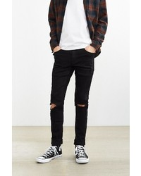 Cheap Monday Tight Black Destroyed Skinny Jean
