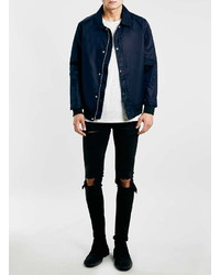Topman Washed Black Rip Stretch Skinny Jeans | Where to buy & how ...