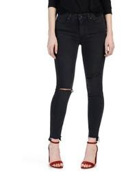Paige Transcend Hoxton Step Hem Ultra Skinny Jeans
