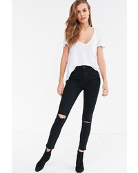 BDG Twig Ripped High Rise Skinny Jean Black