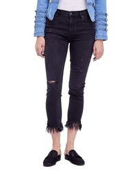 Free People We The Free By Great Heights Frayed Skinny Jeans