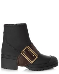 Burberry Prorsum Whitchester Rubberised Leather Ankle Boots