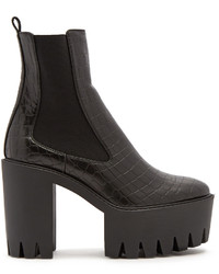 Stella McCartney Monster Crocodile Effect Faux Leather Ankle Boots