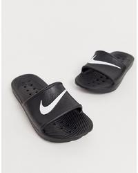 Nike Black Kawa Swoosh Slider