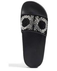 3bcecdc957c5f3 ... Salvatore Ferragamo Crystal Logo Slide Sandal ...