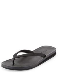 Black Rubber Flip Flops