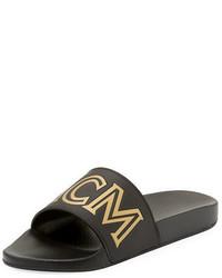MCM Rubber Logo Slide Sandal