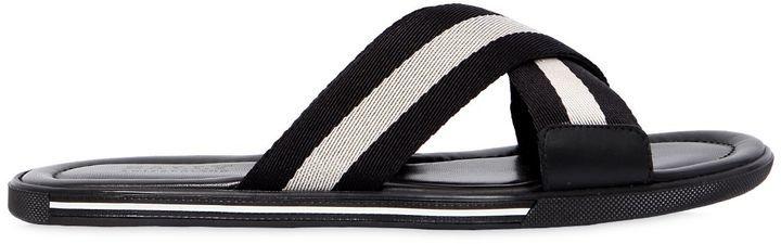 219e42867df4 ... Bally Rubber Sandals W Web Crisscross Straps ...