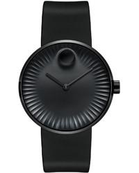 40mm edge watch with rubber strap black medium 641635