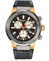 Salvatore Ferragamo 44mm F 80 Chronograph Watch W Rubber Strap Black
