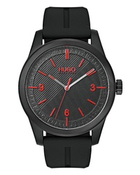 Hugo Automatic Silicone Strap Watch