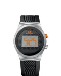 BOSS HUGO BOSS Boss Orange Black Digital Rubber Strap Watch