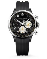 Baume & Mercier Capeland Shelby Cobra 10281 Limited Edition Stainless Steel Rubber Strap Watch