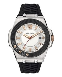 Versace Chain Reaction Silicone Watch
