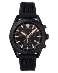 Versace Chrono Silicone Watch