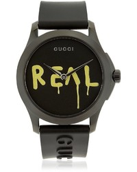 Gucci Ghost Real G Timeless Rubber Watch