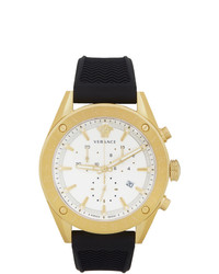 Versace Gold And Black V Chrono Watch