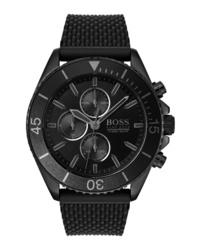 BOSS Ocean Edition Chronograph Rubber Watch