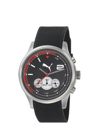 Puma Black Rubber Quartz Watch