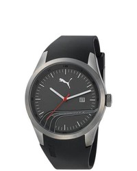 Puma Sport Black Rubber Quartz Watch