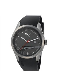 Puma Sport Black Rubber Quartz Watch