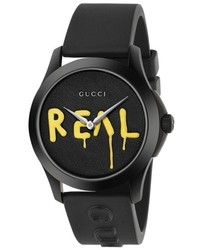 Gucci Real Rubber Strap Watch 38mm