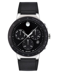 Movado Sapphire Chronograph Rubber Strap Watch