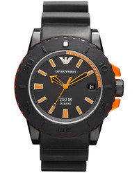 Emporio Armani Watch Black Rubber Strap 46mm Ar5969