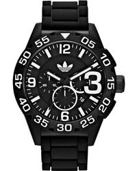 adidas Watch Unisex Chronograph Black Silicone Strap 48mm Adh2859
