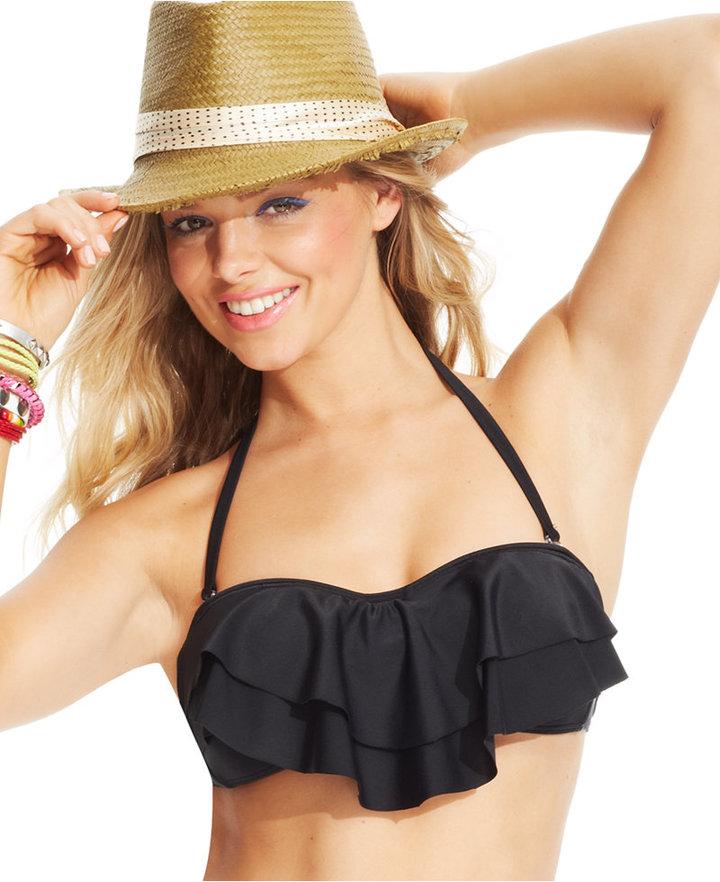 9253eb41ba ... Hula Honey Tiered Flounce Bikini Top ...