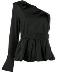 Fendi Ruffle Trimmed One Sleeve Top