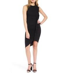 Soprano Asymmetrical Ruffle Body Con Dress