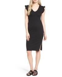 Ruffle sleeve body con dress medium 3760963