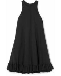 MSGM Ruffled Cady Mini Dress Black